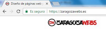 Icono de sitio seguro en Chrome