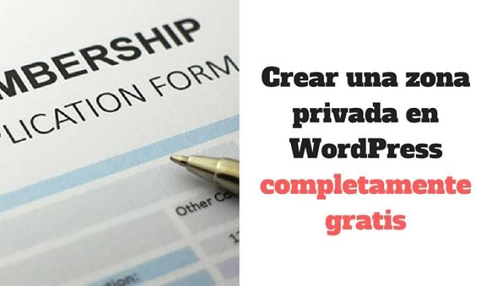 Crear una zona privada para clientes en WordPress