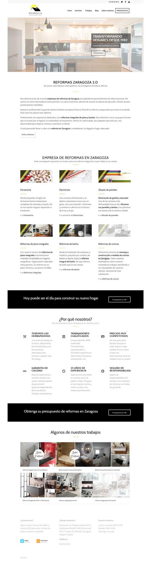 Posicionamiento web empresa de reformas